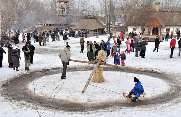 Казацкий посёлок Мамаева слобода в Киеве. Фото: Владимир Бородин/The Epoch Times Украина