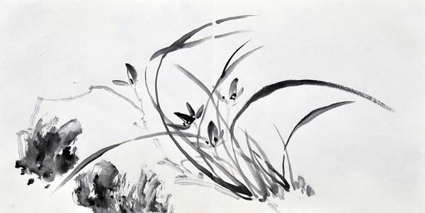 Орхідеї. Художник Жу І