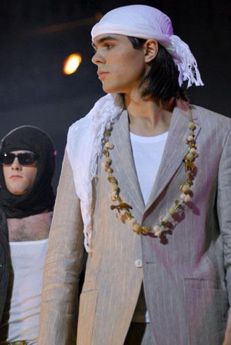 Показ коллекций немецкого модельера мужской одежды Дорис Хартвих в Киеве. Фото: Владимир Бородин/Великая Эпоха