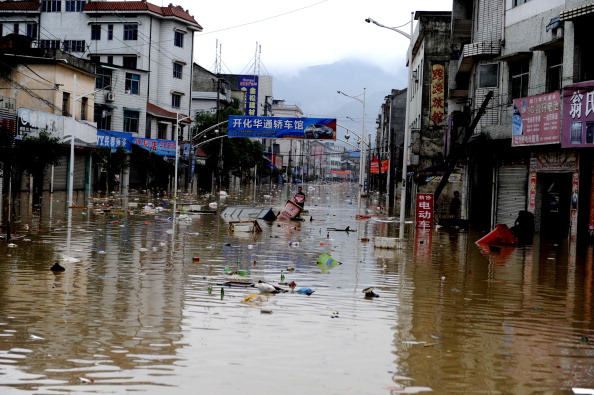 Повінь в провінції Чжецзян, Китай. Фото: STR/AFP/Getty Images