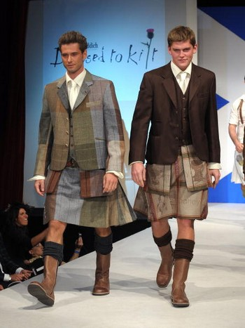 Показ Dressed To Kilt в шотландском стиле. Фото: Getty Images