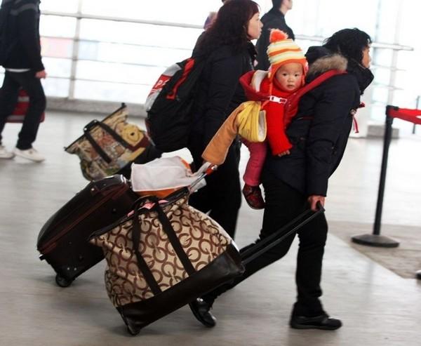 Новогодняя миграция китайцев. Фото: Getty Images