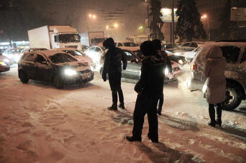 Киев засыпал снег. Фото: Владимир Бородин / Великая Эпоха