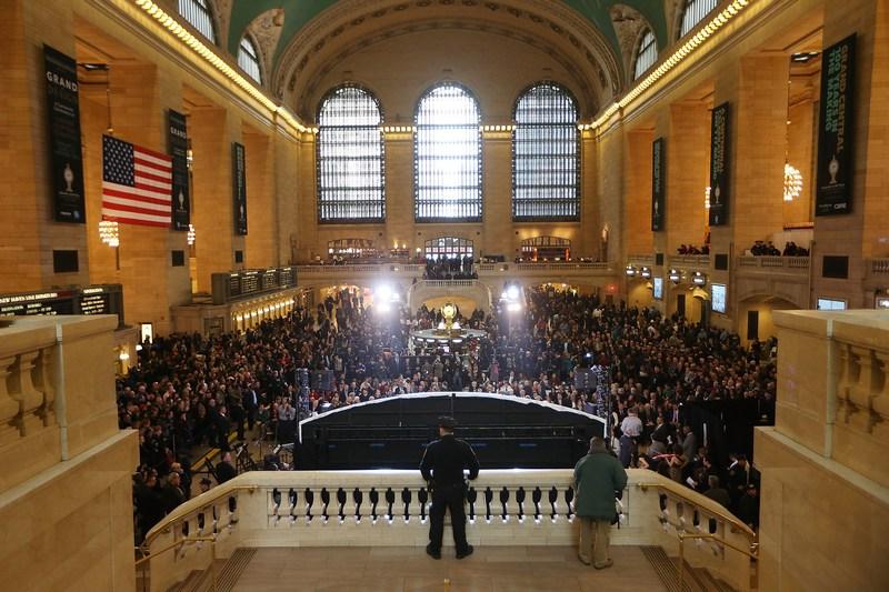 Нью-Йорк, США, 1 февраля. Старейший в городе Центральный вокзал отпраздновал 100-летний юбилей. Фото: Mario Tama/Getty Images