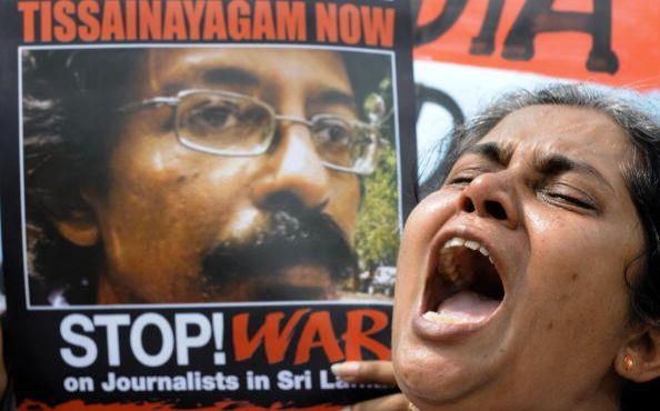 Коломбо (Шри-Ланка). Мероприятия, посвящённые Дню прав человека. 10 декабря. 2008 г. Фото: GETTY IMAGES