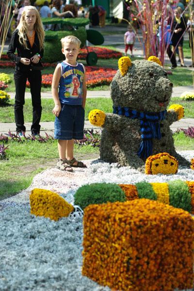 Выставка экспозиций из цветов проходит в Киеве с 5 по 8 сентября 2008 года. Фото: Владимир Бородин/The Epoch Times