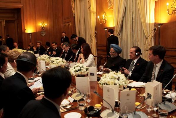 Лидеры стран отужинали на Даунинг-стрит, 10 в преддверии саммита G20. Фото: Getty Images