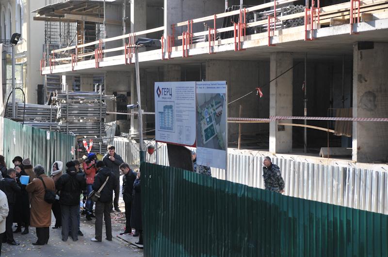 Акція проти незаконного будівництва в історичному центрі Києва пройшла 8 листопада. Фото: Володимир Бородін/The Epoch Times Україна