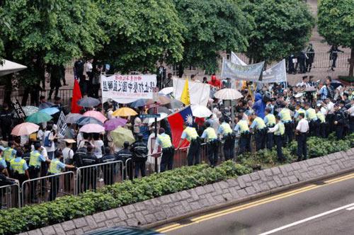 Различные общественные организации Гонконга провели акцию протеста. Фото: Central News Agency