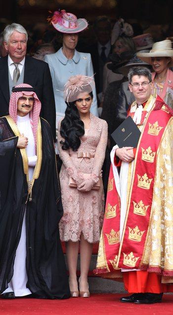 Саудовский принц Аль-Валид Бин Талал з принцессой Амеерах. Фото: Chris Jackson/Getty Images