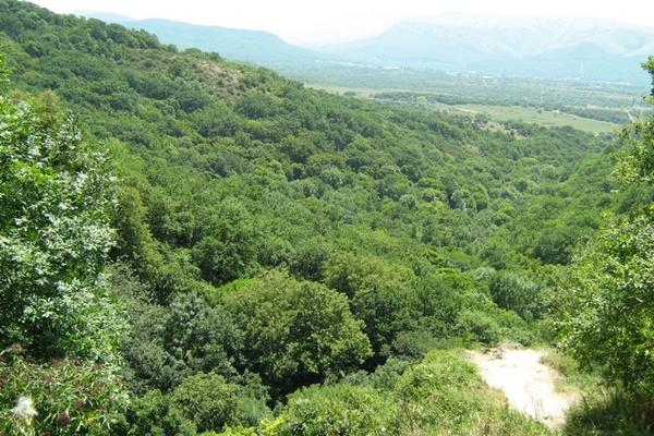 Долина Червоні Печери. Панорама з Туфового майданчика.Фото:Павло Хулін/The Epoch Times Україна