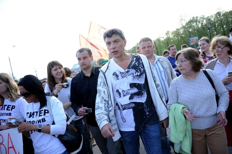 Борис Немцов. «Марш миллионов» в Москве. Фото: NATALIA KOLESNIKOVA/AFP/GettyImages