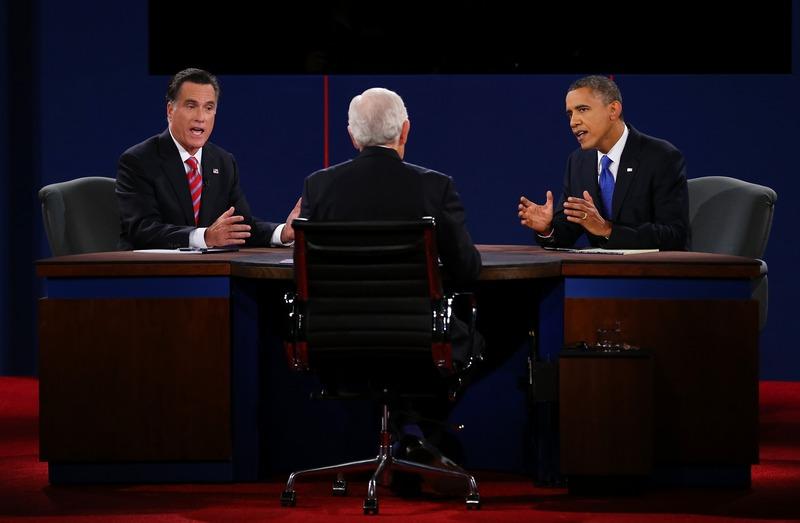Бока-Ратон, штат Флорида, США, 22 октября. Барак Обама переиграл Митта Ромни в финальном раунде президентских дебатов. Фото: Joe Raedle/Getty Images