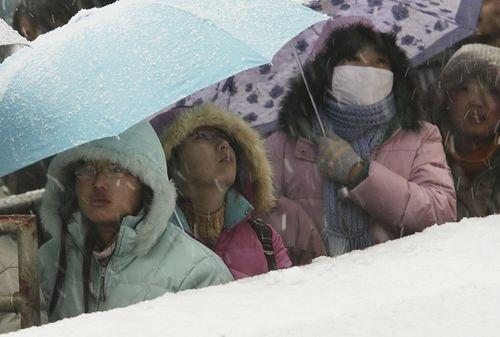Студенты в очереди за билетами домой. Фото: China Photos/Getty Images