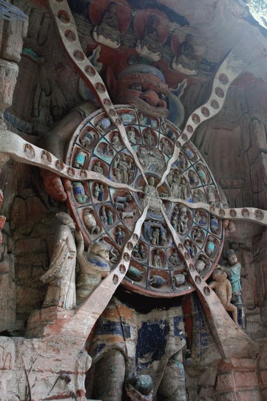Кам'яна скульптура, цикл переродження. Дацзу. Фото: Michael/umich.edu