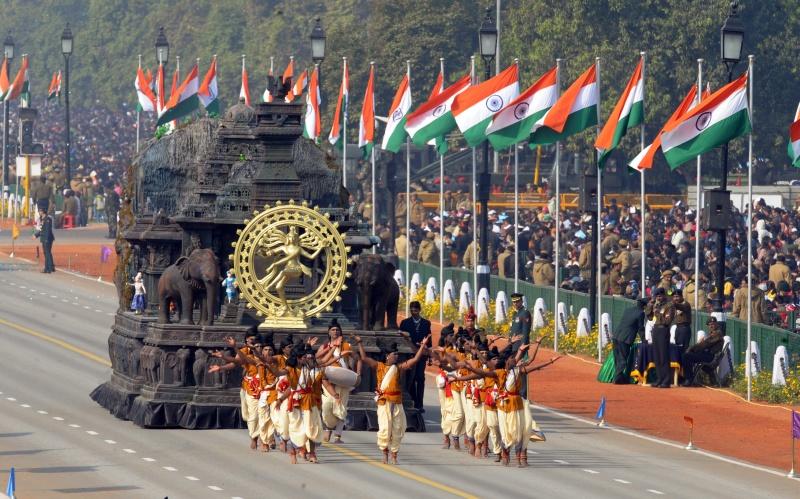 Платформа от штата Махараштра. Фото: RAVEENDRAN/AFP/Getty Images
