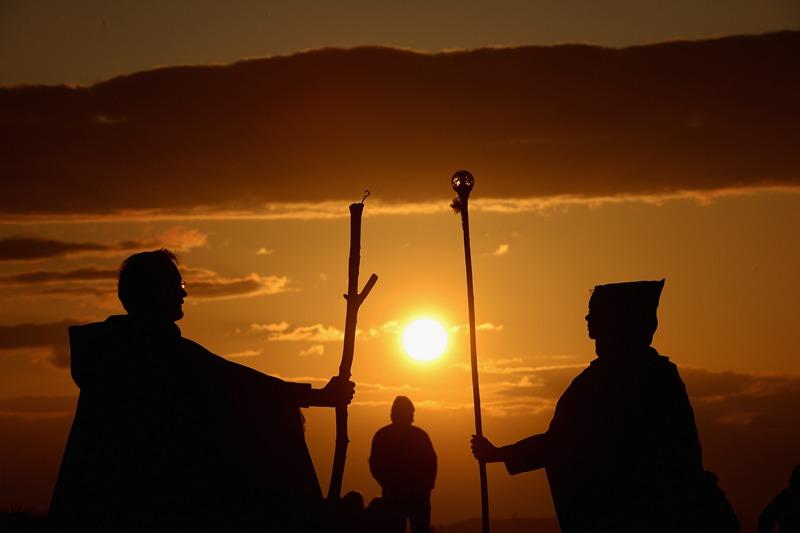 Эдинбург, Шотландия, 30 апреля. Жители готовятся отметить кельтский праздник начала лета Белтейн. Фото: Jeff J Mitchell/Getty Images