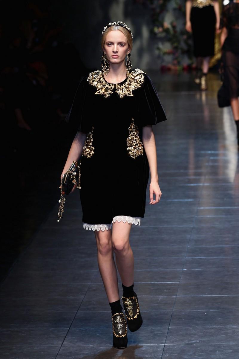 Романтичне бароко від Dolce & Gabbana. Фото: Vittorio Zunino Celotto/Getty Images