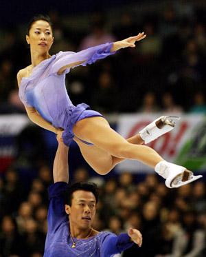 Китайська пара Shen Xue і Zhao Hongbo на чемпіонаті світу з фігурного катання. Фото: TOSHIFUMI KITAMURA/AFP/Getty Images