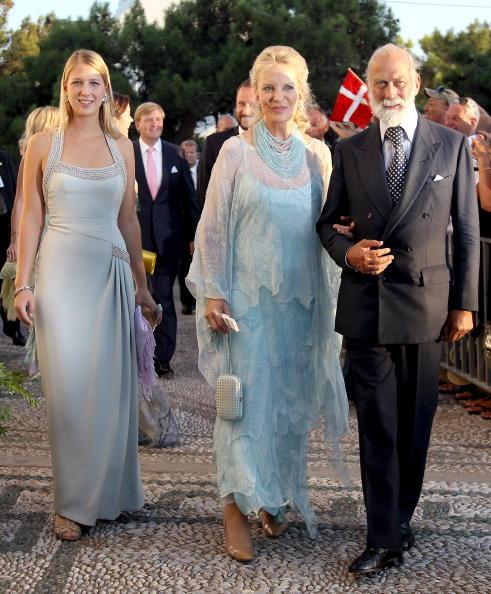 Гости на свадьбе принца Греции Николаоса и Татьяны Блатник. Принц и принцесса Майкл Кентские и Габриэлла Виндсор. Фоторепортаж. Фото: Chris Jackson/Getty Images