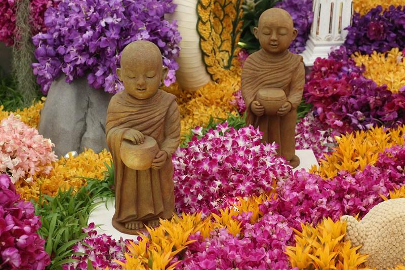 Фрагмент тропического ботанического сада «Nong Nooch» из Паттайи (Таиланд) на выставке цветов в Челси. Фото: Oli Scarff/Getty Images