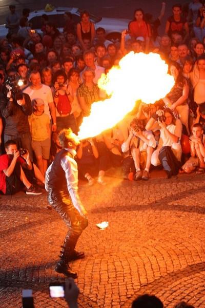 Київський фестиваль вогню: найбільше потішили публіку фаєрмени. Фото: Євген Довбуш / The Epoch Times Україна