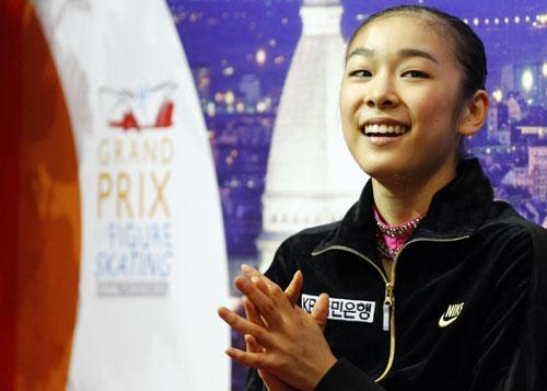 После произвольной программы в финале Гран-При-2007 в Турине 15 декабря. Фото:  DAMIEN MEYER/AFP/Getty Images