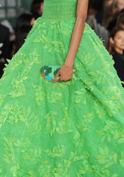 Коллекция весна/лето-2009 от Оскар де ла Рента (Oscar de la Renta).Фото: Scott Gries/Getty Images