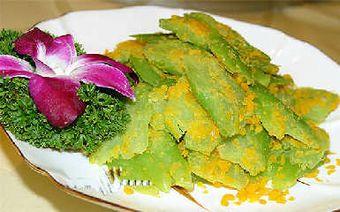 Китайские кабачки с солёным яичным желтком. Фото с aboluowang.com
