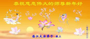 Все ученики Фалуньгун г.Чжанцзян поздравляют уважаемого Учителя с Новым годом!