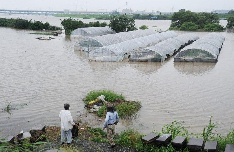 Куруме, префектура Фукуока, Япония, 14 июля. Сильное наводнение на юге страны вынудило эвакуироваться свыше 400 тыс. жителей. Фото: JIJI PRESS/AFP/GettyImages