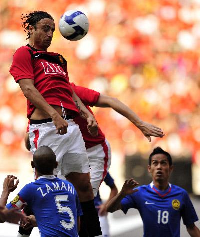 Манчестер Юнайтед в товарищеском матче против лучших футболистов чемпионата Малайзии.Фото:Getty Images