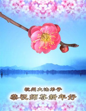 Все ученики Фалуньгун г.Ханьчжоу поздравляют уважаемого Учителя с Новым годом!