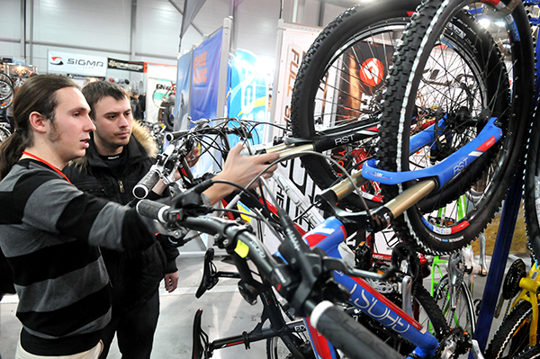 Выставка «Велобайк 2011» открылась в Киеве 25 февраля. Фото:Владимир Бородин/The Epoch Times Украина