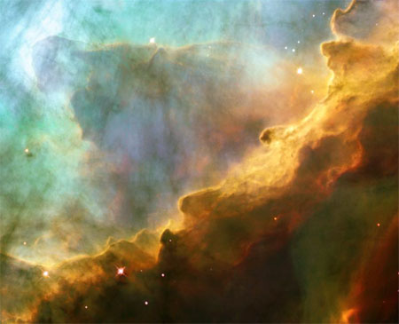 24 апреля 2003 г. Туманность Омега/Лебедь (M17). Фото: NASA, ESA and J. Hester (ASU)