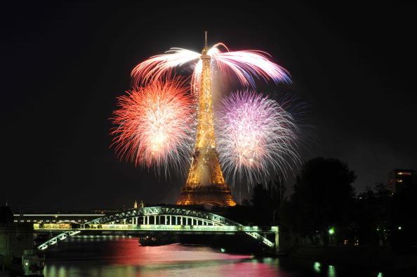 14 июля - главный Национальный праздник Франции. Париж,14 июля 2009г. Фото: MLADEN ANTONOV/AFP/Getty Images