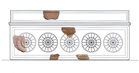 Художники воспроизвели вид  обнаруженного гроба, 2,5 метра длиной. Он сделан из иерусалимского камня и покрытый бронзой. Гроб был разбит, судя по всему, во время Великого восстания 66-72 годов нашей эры. Фото: Hebrew University via Getty Images