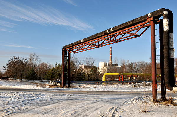 В дали виднеется энергоблок ЧАЭС. Фото: Владимир Бородин/The Epoch Times