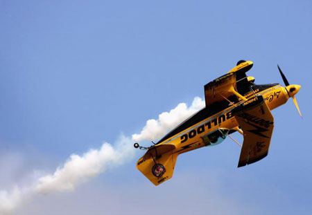 Самолёт Pitts Bulldog участвует в международном авиашоу. Фото: Mark Dadswell/Getty Images