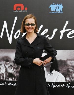 Францезская актриса Кароль Буке (Carole Bouquet) на премьере «Северовосток» (Nordeste) в Мадриде. Фото: PHILIPPE DESMAZES/AFP/Getty Images