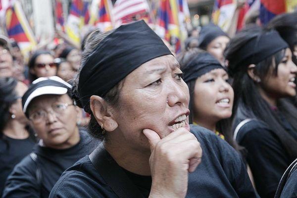 Акция в защиту прав тибетцев. 23 августа. Нью-Йорк. Фото: И Лосунь/The Epoch Times