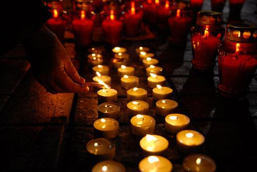 В Киеве почтили  память невинных жертв Голодомора. Фото: Владимир Бородин/Великая Эпоха