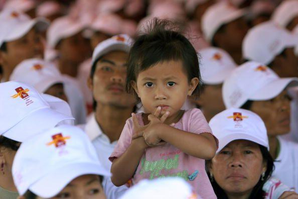 Пномпень (Камбоджа). Мероприятия, посвящённые Дню прав человека. 10 декабря. 2008 г. Фото: GETTY IMAGES
