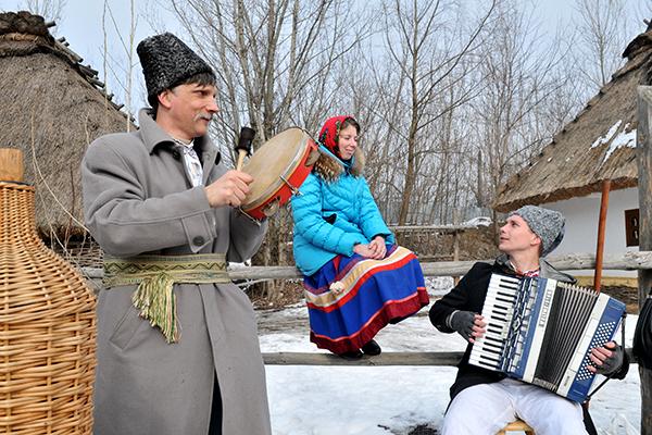 Музыканты на празднике Колодий в Мамаевой слободе. Фото: Владимир Бородин/The Epoch Times Украина
