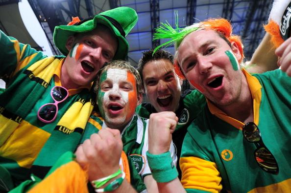 Емоції ірландських уболівальників на матчі між Ірландією і Хорватією 10 червня 2012 року у Познані, Польща. Фото: Jamie McDonald/Getty Images