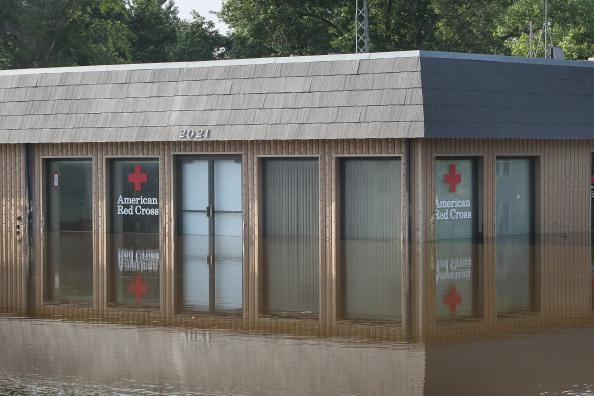 Затопленный офис службы Красного Креста. г. Майнот, Северная Дакота, США. Фото: Scott Olson/Getty Images