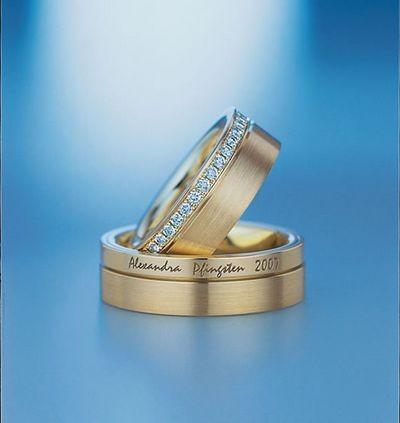 Золотые обручальные кольца. Фото с efu.com.cn