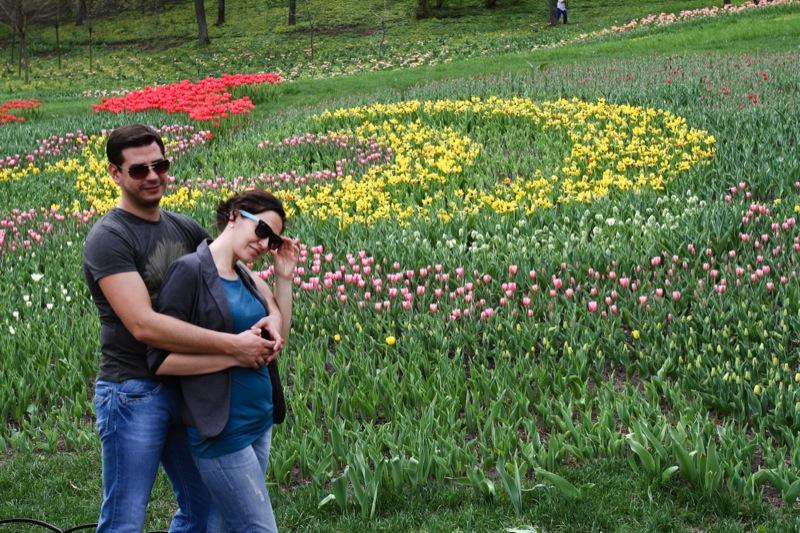 Виставка тюльпанів відкрилася в Києві на співочому полі. Фото: Велика Епоха