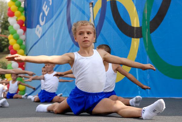 Акция «Олимпийский урок» прошла в Киеве 5 августа. Фото: Владимир Бородин/The Epoch Times