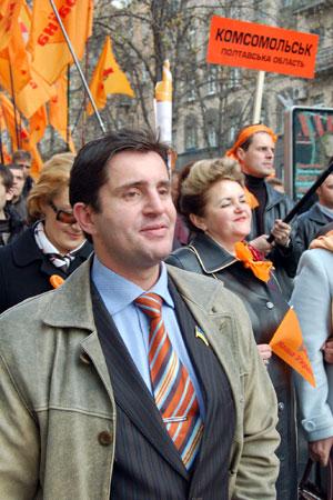 Шествие возглавляли депутаты партии «Наша Украина». Фото: Владимир Бородин/Великая Эпоха